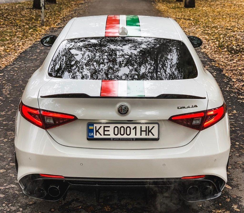 В Украине замечен «заряженный» Alfa Romeo с мотором от Ferrari 1