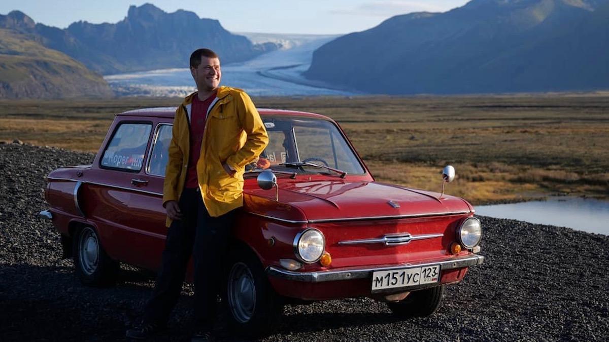 Россияне проехали путь от Челябинска до Исландии на старом «Запорожце» 1