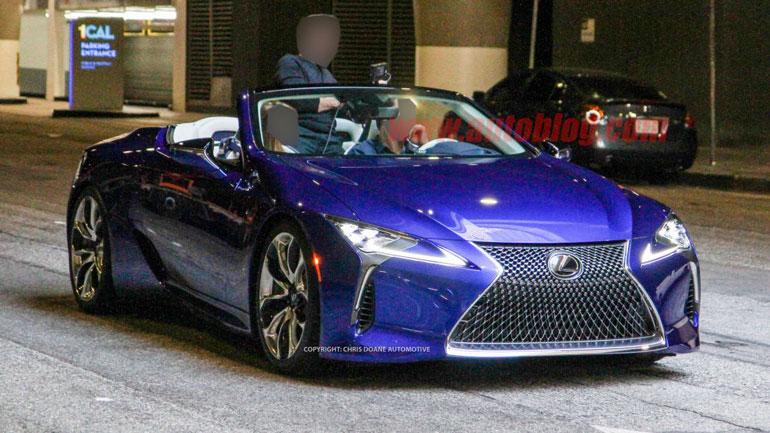 Опубликованы снимки серийной версии кабриолета Lexus LC 2