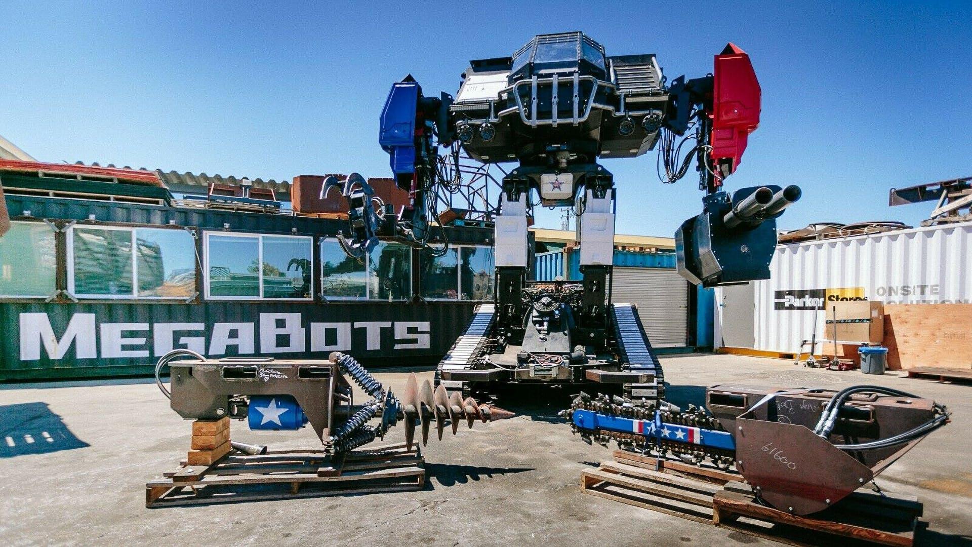 Гигантского боевого робота с двигателем от Corvette выставили на продажу 1