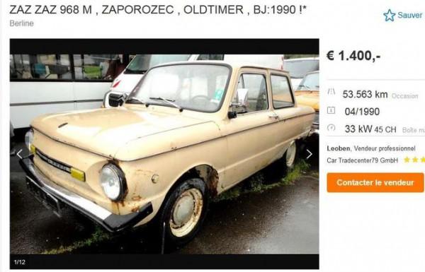 В Евросоюзе продают украинский «ретроавтомобиль» за 1400 евро 1