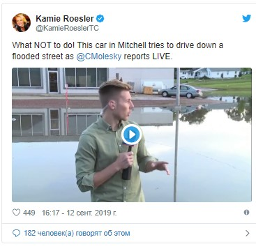 Кроссовер Tesla справился с наводнением 1