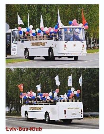 Как выглядит уникальный автобус ЛАЗ с открытым верхом 1