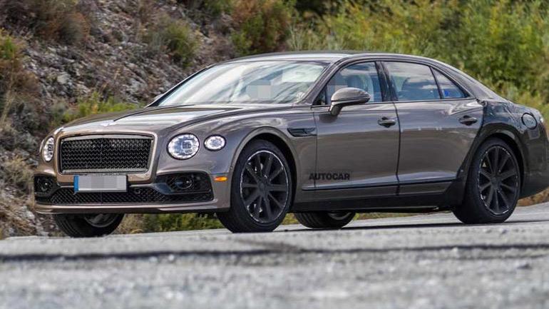 Гибридный Bentley Flying Spur замечен на тестах 1
