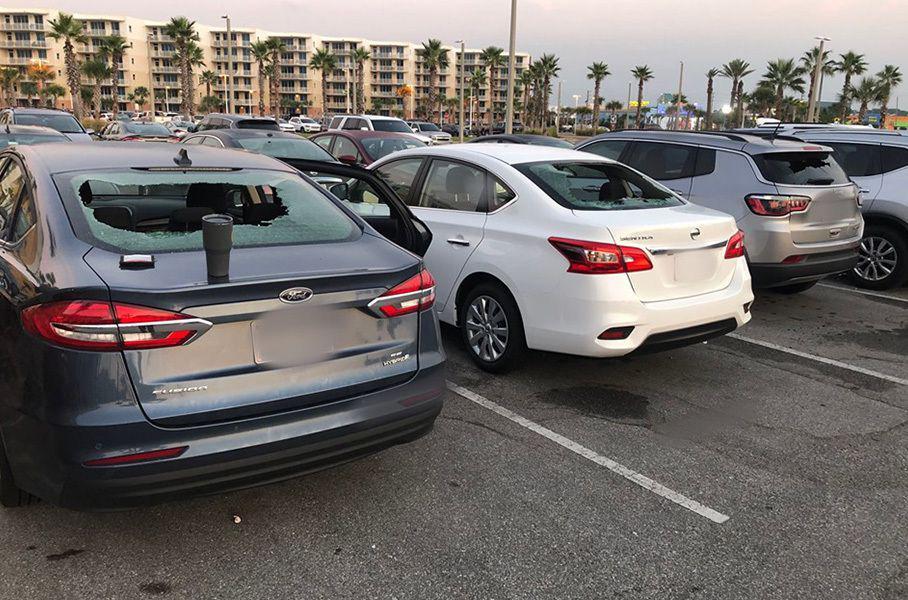 «Борец с мафией» разбил два десятка машин на парковке 1