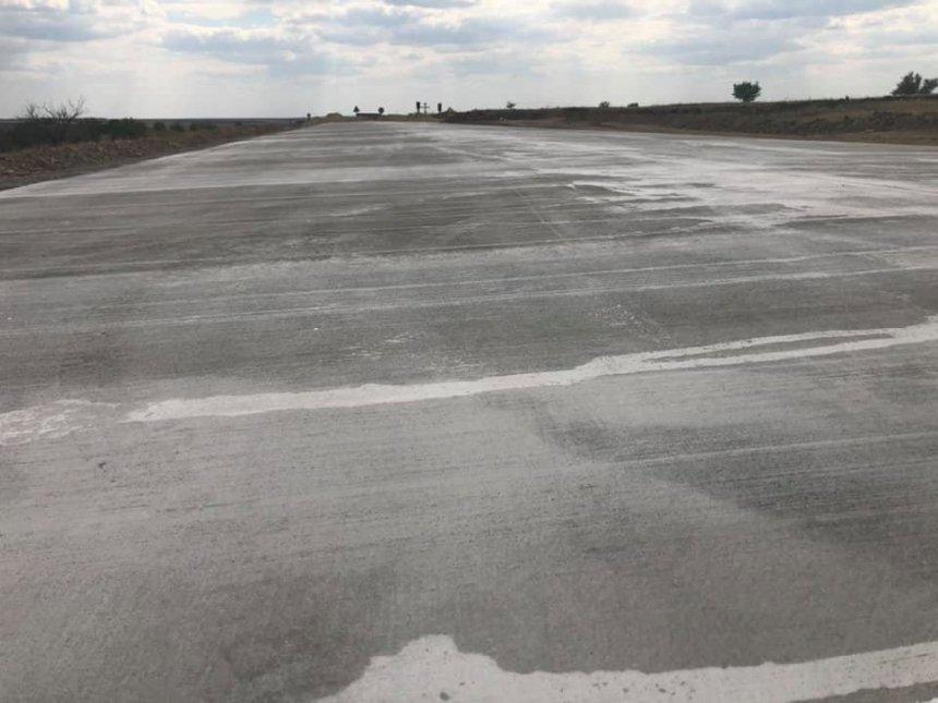 Появились фото первых 100 метров бетонной дороги Кропивницкий – Николаев 1