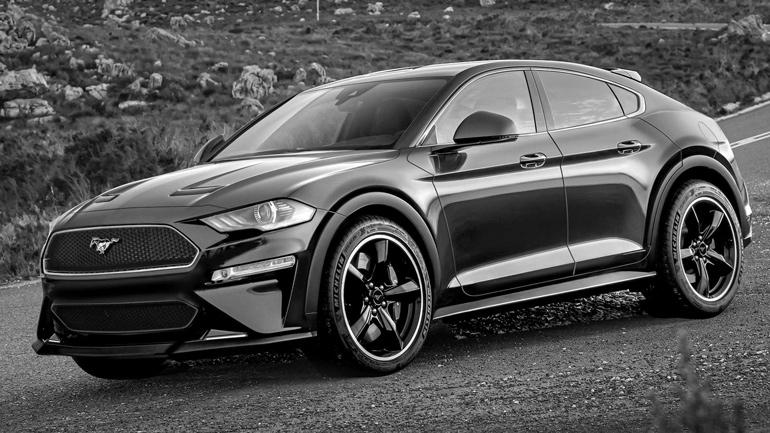 Опубликованы изображения электрического внедорожника Ford Mustang 1