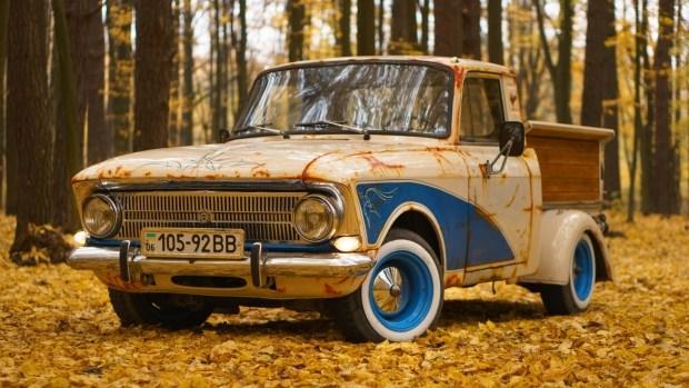 Украинец построил яркий пикап Москвич в стиле рэт-лук 1