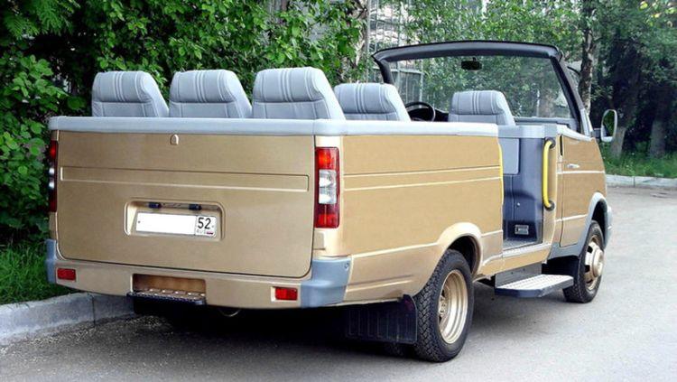 В сети показали уникальную ГАЗель-кабриолет 2