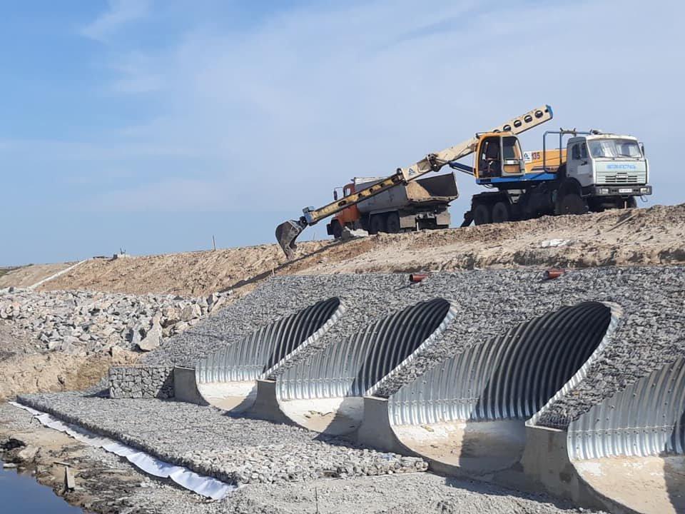 Как проходит строительство трассы из Киева в Днепр 1