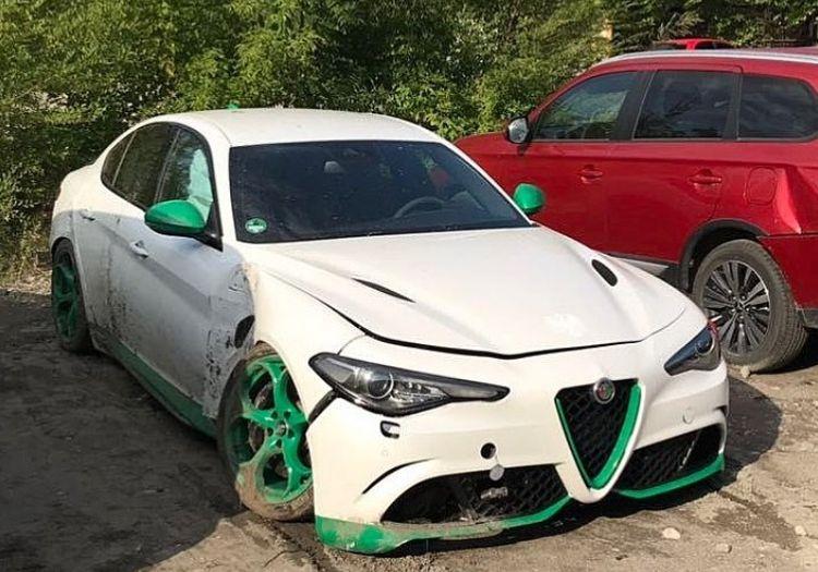 В Украине разбили редчайшую заряженную Alfa Romeo 1