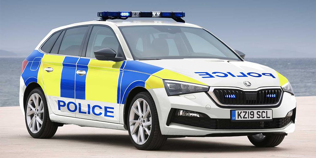 Хэтчбек Skoda Scala поступил на службу в полицию 1