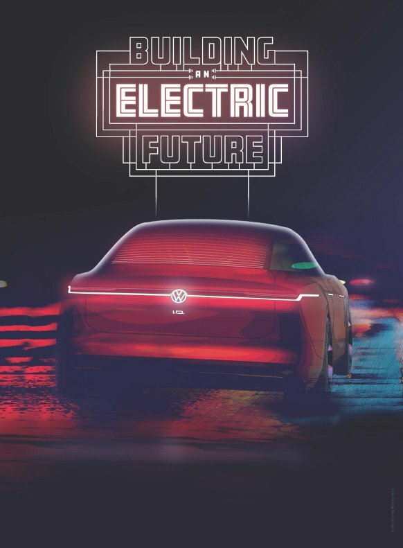Volkswagen анонсировал премьеру электрического седана 1