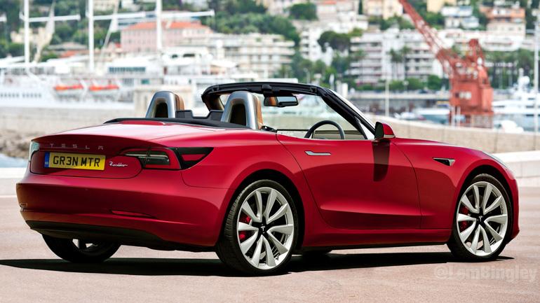 Каким может быть кабриолет Tesla Model 3 1
