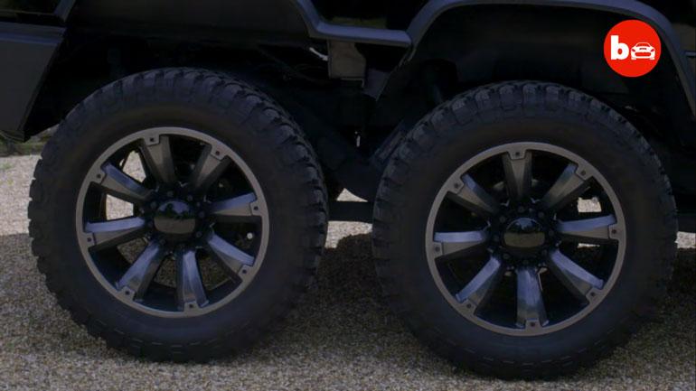Показали шестиколёсного монстра на базе Hummer H2 2