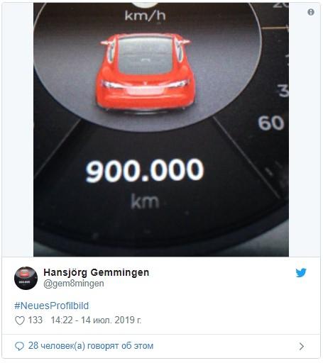 Первая «Тесла» пробила 900 000 км: это новый рекорд 1