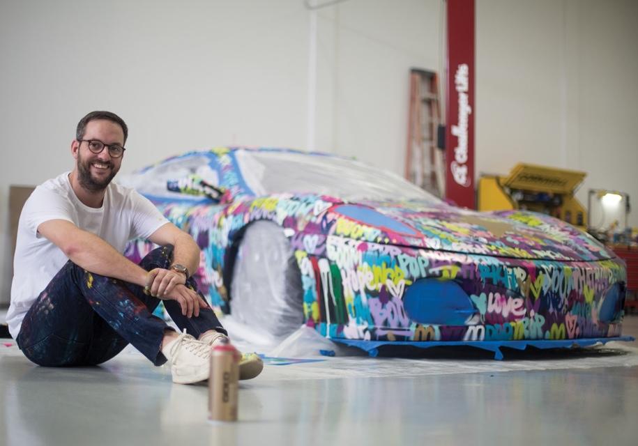Разукрашенный гоночный Ferrari продадут на аукционе 1