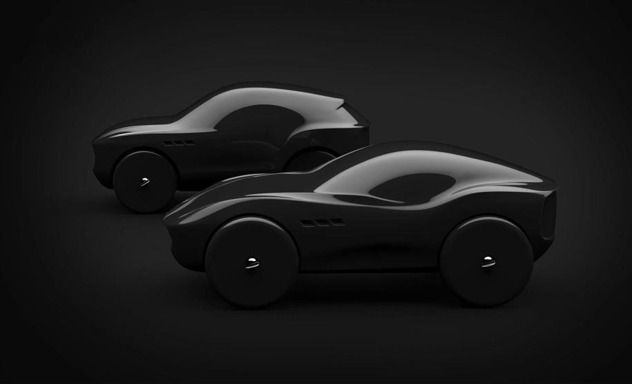 Автомобили Maserati «превратились» в деревянные машинки 3