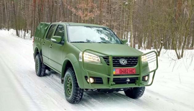 Компания «Богдан» выпустила военный пикап с китайскими корнями 1