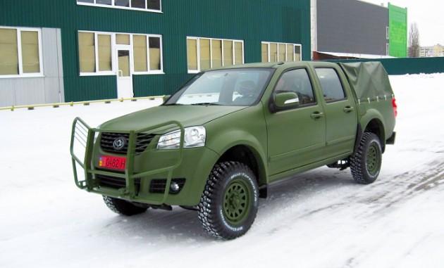 Компания «Богдан» выпустила военный пикап с китайскими корнями 3