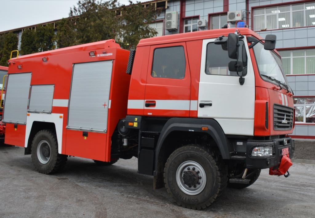 Украинские пожарники получили новейшие автомобили 1