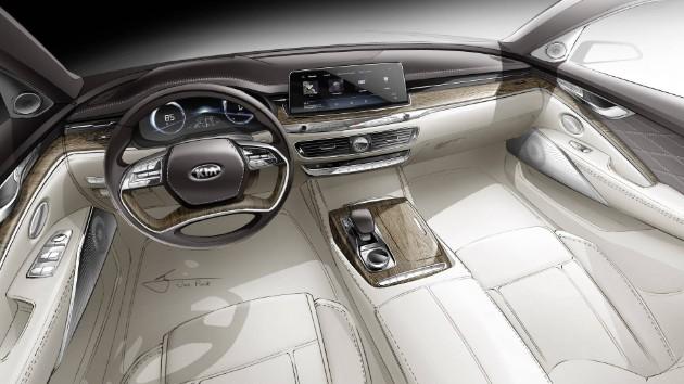 Kомпания Kia показала интерьер нового седана Quoris 1