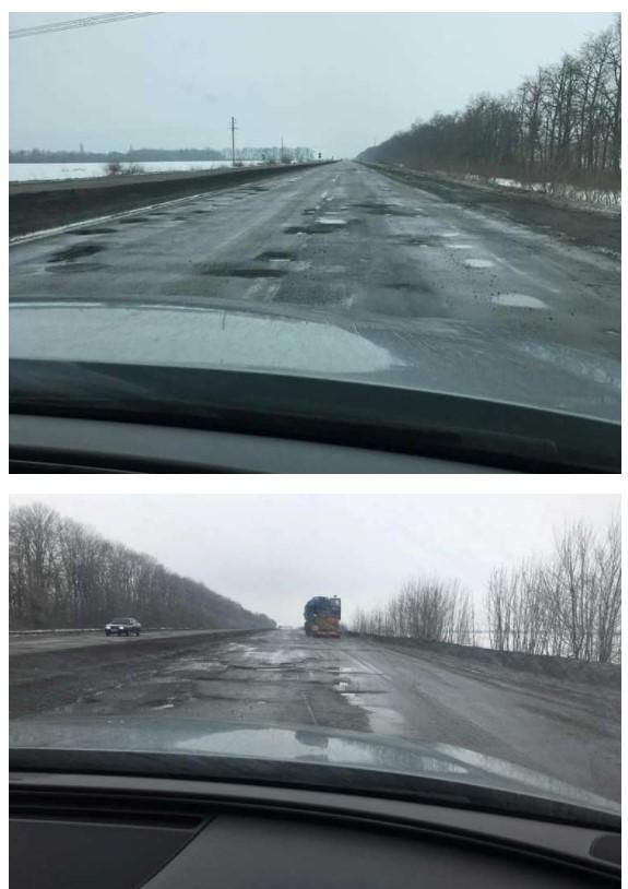 Автомобилисты шокированы состоянием трассы Киев – Одесса 1