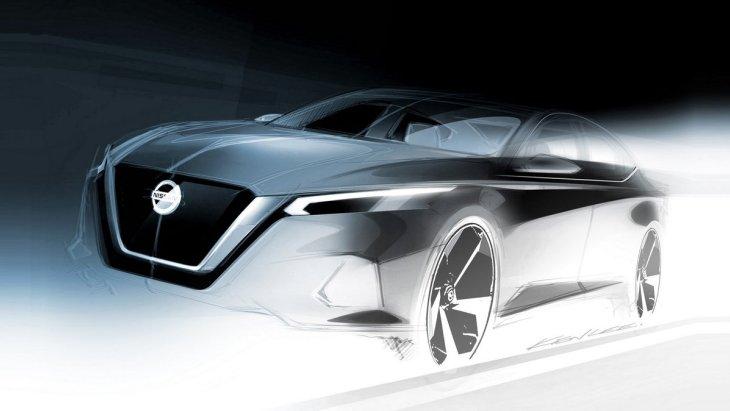 Nissan продемонстрировал скетч нового седана Altima 1