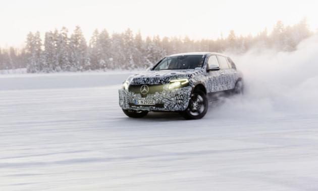 Mercedes-Benz EQC проверили холодом 1