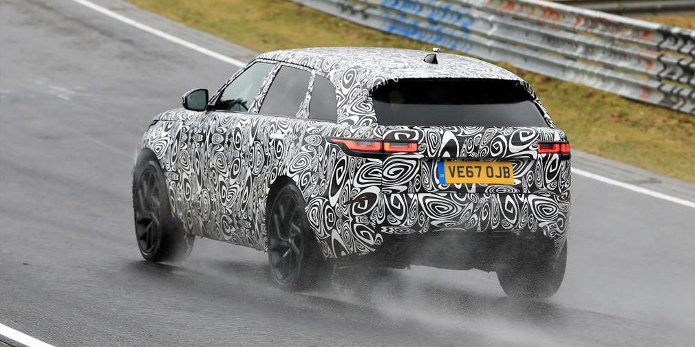 Спортивную версию Range Rover Velar заметили на Нюрбургринге 2