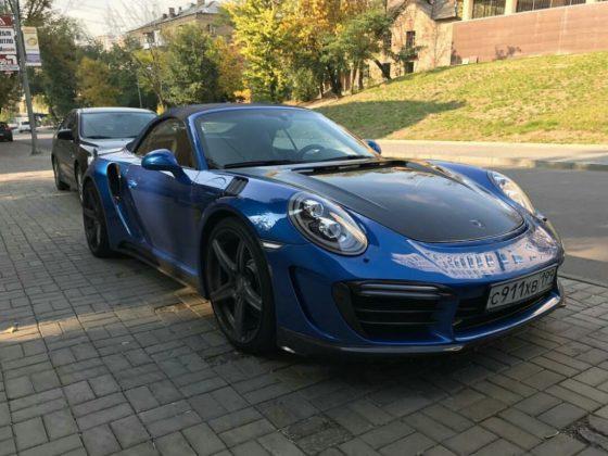 В Украине засветился уникальный Porsche 911 Stinger GTR на российских номерах 1