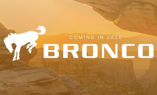 Свежая информация о новом Ford Bronco 1