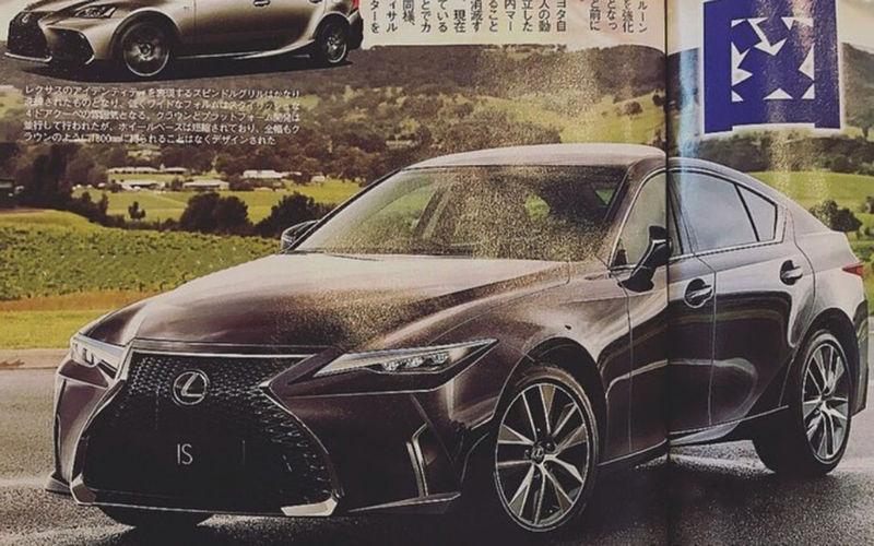 Первые изображения нового Lexus IS 1
