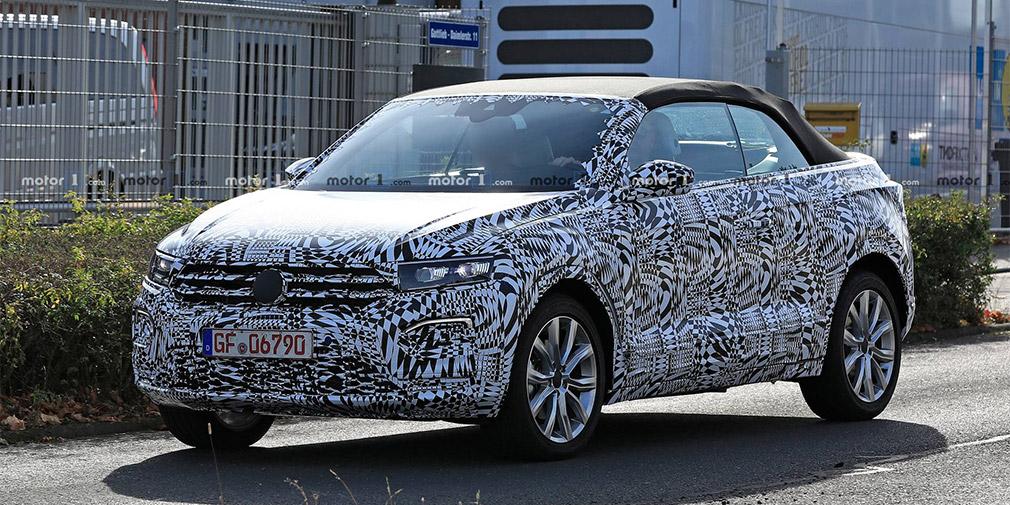 Volkswagen T-Roc с открытым верхом впервые замечен на тестах 1