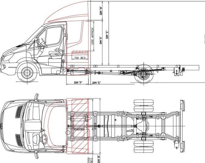 Дальнобойный Mercedes-Benz Sprinter удивил кабиной 3