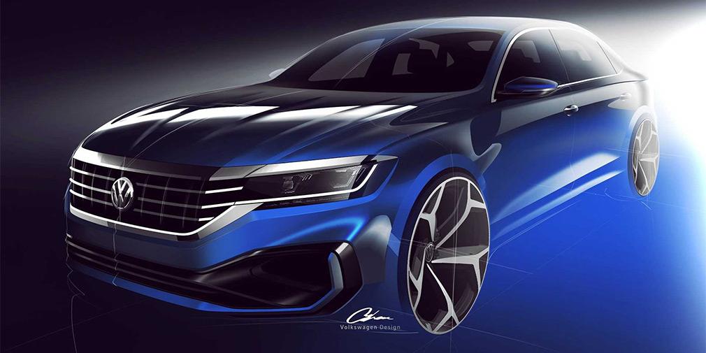 Volkswagen показал первые изображения нового Passat 1