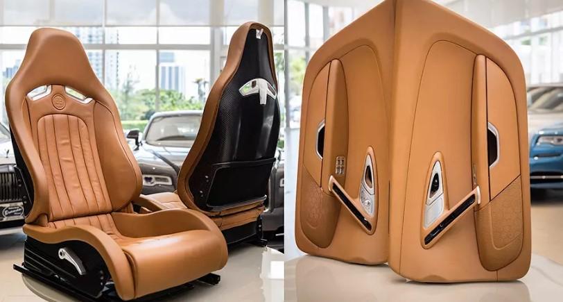 На eBay выставили интерьер гиперкара Bugatti Veyron 1