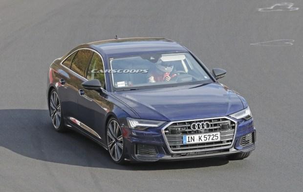 Новый седан Audi S6 замечен на тестах без камуфляжа 2