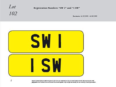 Два уникальных номерных знака купили за 300 тыс. фунтов 1