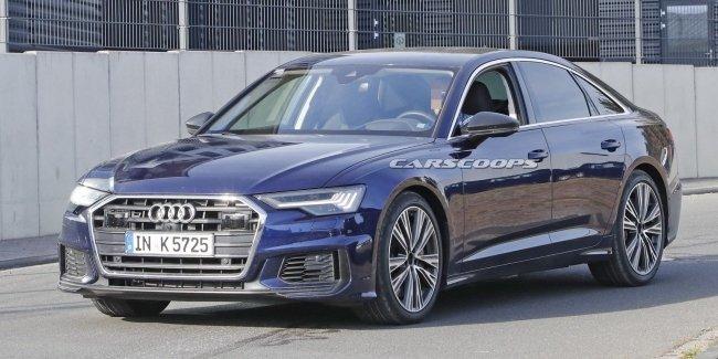 Новый седан Audi S6 замечен на тестах без камуфляжа 1