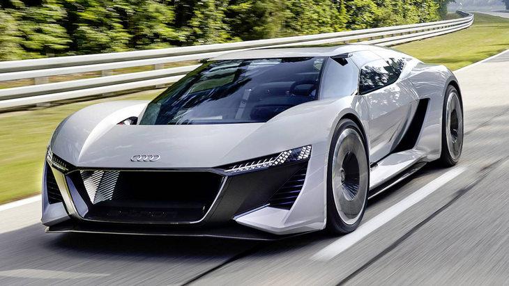 Дизайнеры Audi хотят запустить в серию электрический гиперкар PB18 e-tron 1