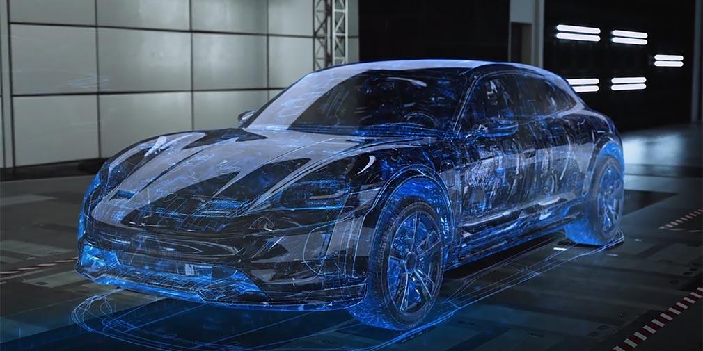 В Porsche рассказали о виртуальных тестах электрического универсала 1
