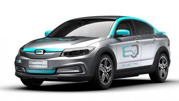 В Гуанчжоу представили прототип электромобиля от Qoros 1