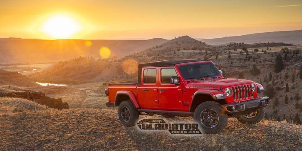 В сети рассекретили дизайн Jeep Gladiator 1
