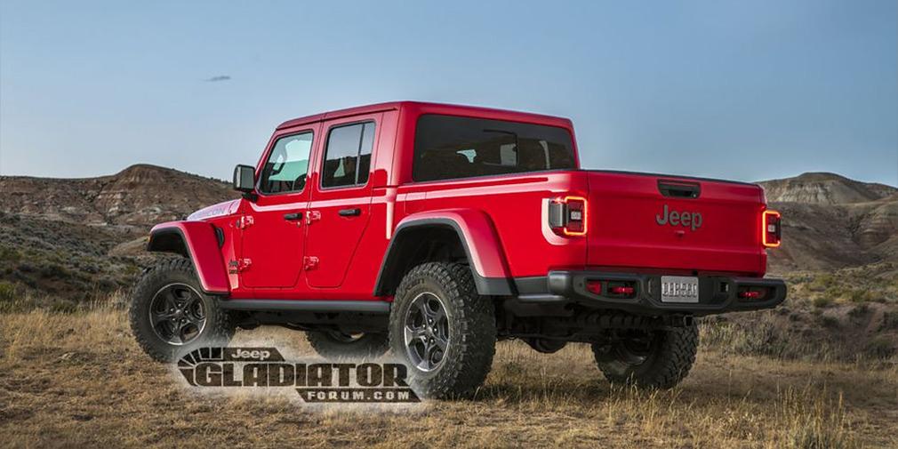 В сети рассекретили дизайн Jeep Gladiator 2