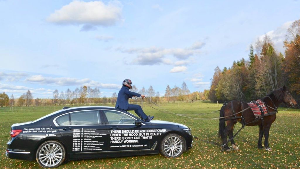 Владельца «семерки» BMW довели до отчаяния 1
