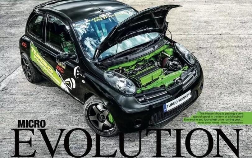В Nissan Micra уместили начинку от Lancer Evo 1