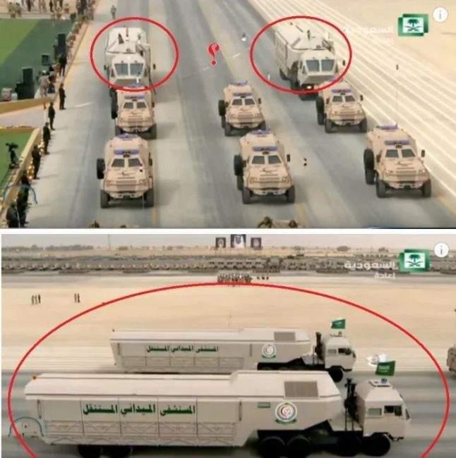 В Саудовской Аравии заметили необычный военный транспорт Mercedes 1