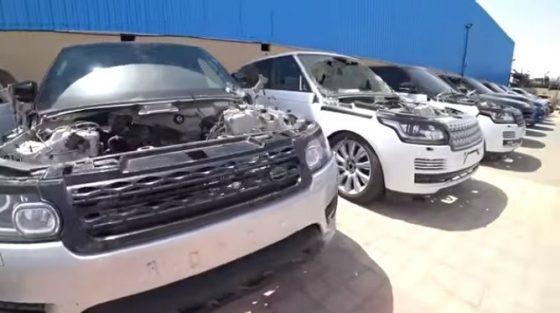 Обнаружена свалка внедорожников Mercedes и Range Rover 1