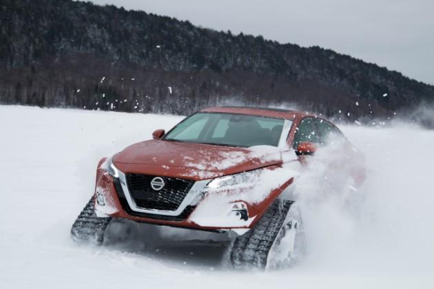 Nissan показал ультимативный седан на гусеницах 2